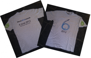 World IPv6 Launch T-shirt Amsterdam Netherlands